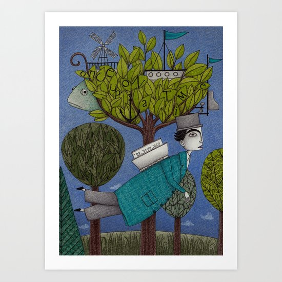 The Reading Tree Art Print