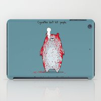 cigarettes iPad Cases featuring Cigarettes don't kill people. by Jason Vaughan
