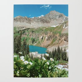 The Blue Lakes of Colorado Poster
