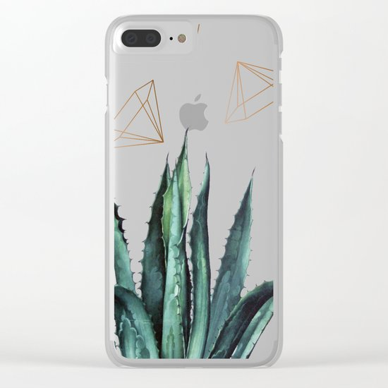 Agave Geometry #society6 #decor #buyart Clear iPhone Case
