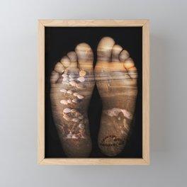 Beach Feet Framed Mini Art Print