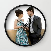 500 days of summer Wall Clocks featuring (500) Days of Summer by Derek Donovan