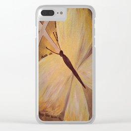Butterfly Cross Easter Clear iPhone Case