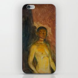 Edvard Munch - Self-Portrait in Hell iPhone Skin