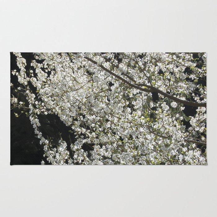 Blooming wild plum Rug