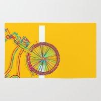 bike Area & Throw Rugs featuring Bike by Rceeh