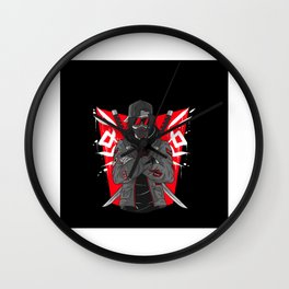 Cool Samurai player character gift motif Wall Clock