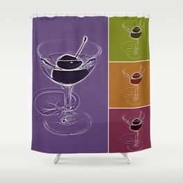 Summertime cocktail time Shower Curtain