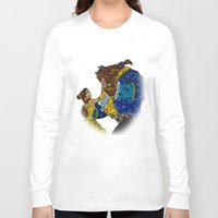 beauty and the beast Long Sleeve T-shirts featuring Beauty and the Beast by JackEmmett