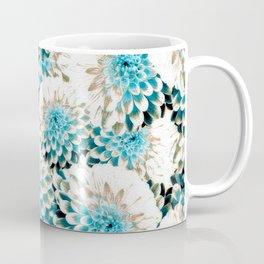 Damask Pattern Azure Coffee Mug