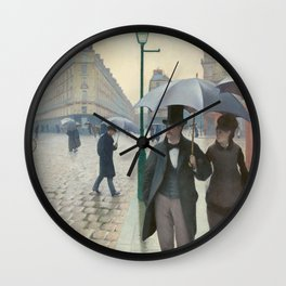 Gustave Caillebotte - Paris Street; Rainy Day Wall Clock