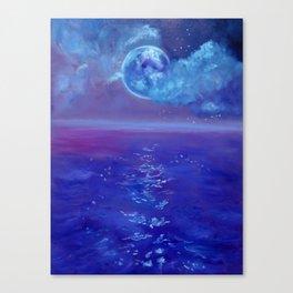 Moon Over Hawaii Canvas Print