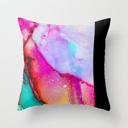 Colorful Abstract Art Pink Green Purple Throw Pillow