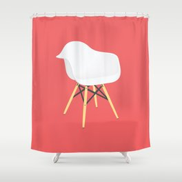 Eames Chair Shower Curtain