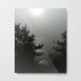 Misty Sun by the Sea Metal Print