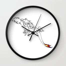 Little Flame-tailed Dragon Wall Clock