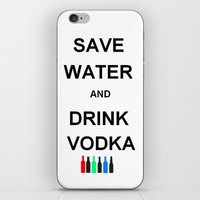 vodka iPhone & iPod Skins featuring Drink Vodka by Lyre Aloise