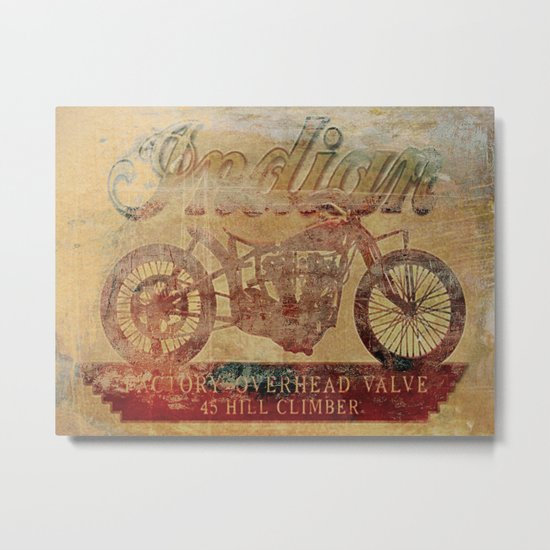 Indian - Vintage Motorcycle Metal Print