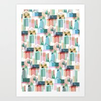 bath Art Prints featuring Bath by Coral Elizabeth Design