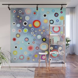Nebulous Blue abstract circles Wall Mural