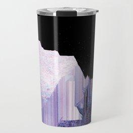 Glitch Valley at Night Travel Mug