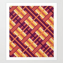 Geometric Sunset Pattern Art Print