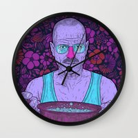 cook Wall Clocks featuring Cook (fiolet) by Lime