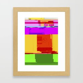 Databent Floppy Disks #2 Framed Art Print