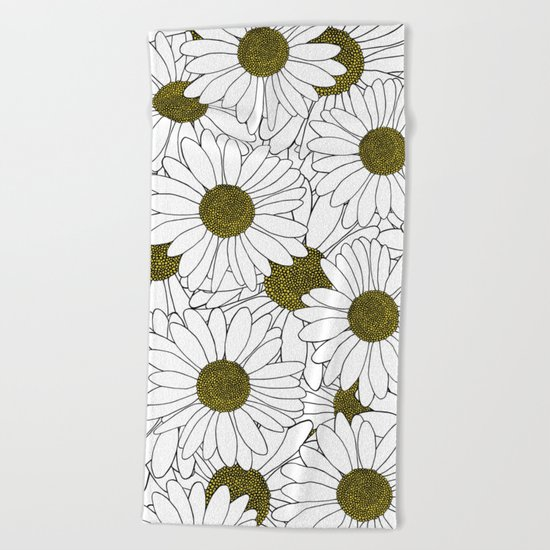 Daisy Yellow Beach Towel