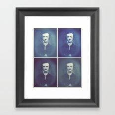 Edgar Allan Poe Horrible Sanity Framed Art Print
