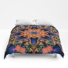BBQSHOES: Kaleidoscopic Fractal Digital Art Design 1702K Comforters