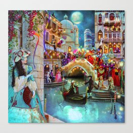 Carnival Moon Canvas Print