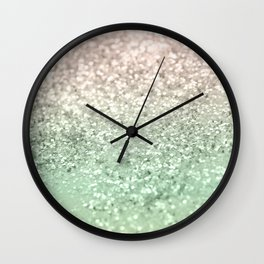 Blush Glitter Dream #3 #shiny #decor #art #society6 Wall Clock