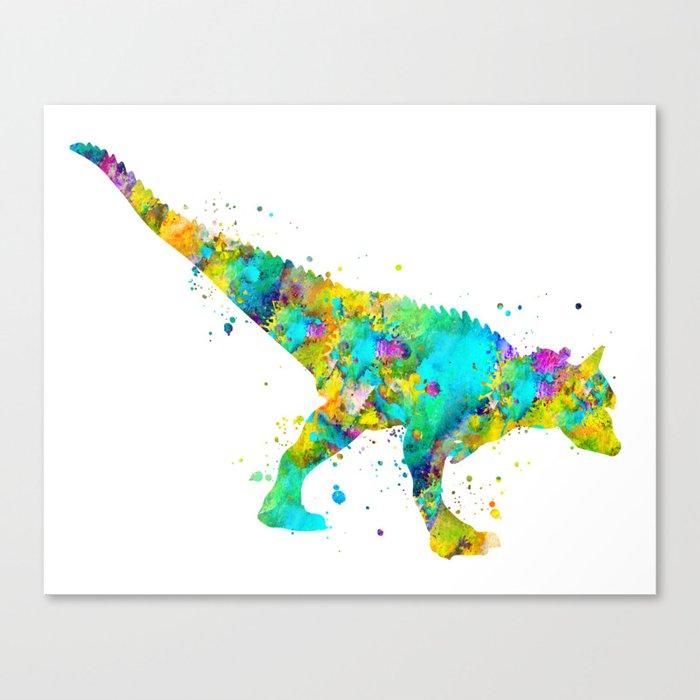 Carnotaurus Dinosaur Canvas Print