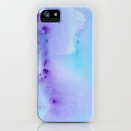 Abstract Watercolor Art Blue And Purple Modern Painting iPhone Case