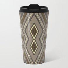 Geometric Rustic Glamour Metal Travel Mug