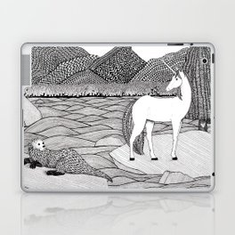 A Meeting by the Water--B&W Laptop & iPad Skin