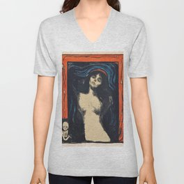 Edvard Munch - Madonna - Digital Remastered Edition Unisex V-Neck