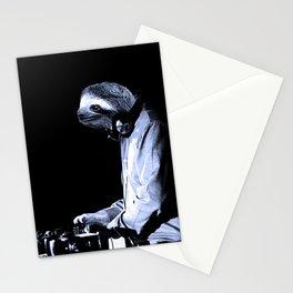 DJ Sloth Stationery Cards