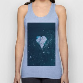 Heart of Winter - Aerial view of Icebergs in the arctic Ocean Unisex Tank Top