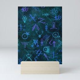 Alchemy Symbols Pattern Mini Art Print
