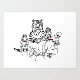 Have a Tiger to Tea Art Print