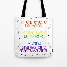 Rainbow Typography Tote Bag