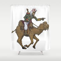 camel Shower Curtains featuring Camel Rider by Bexar Bellamy