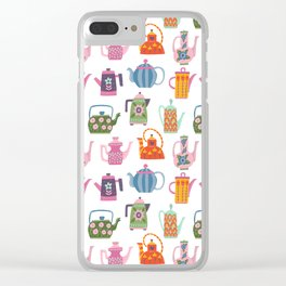 Teapots and Coffee Pots Clear iPhone Case