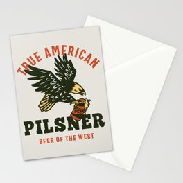 True American Pilsner: Beer of The West Stationery Cards