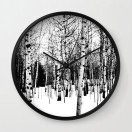 WhiteTrees Wall Clock