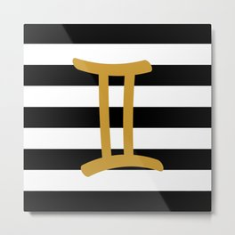Gemini Stripes Metal Print
