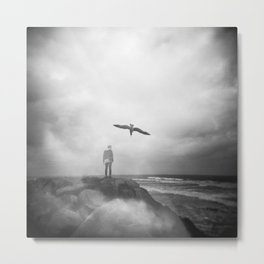 """Ghost Bird"" - California Coast Holga double exposure Metal Print"