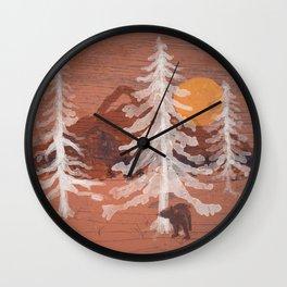 Bear's Solitude... Wall Clock